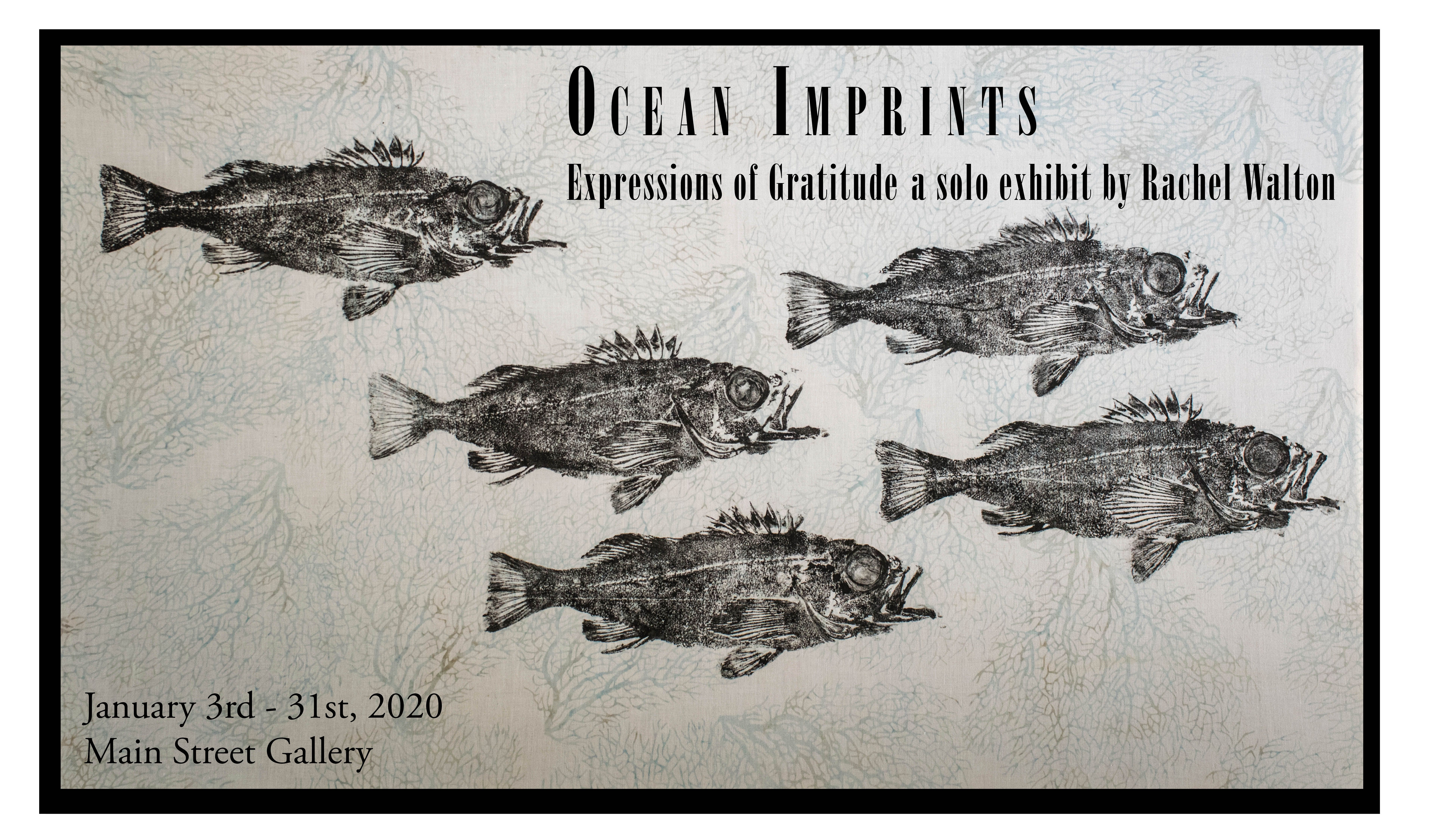 "Opening Reception - ""Ocean Imprints"" - Rachel Walton at the Main Street Gallery"