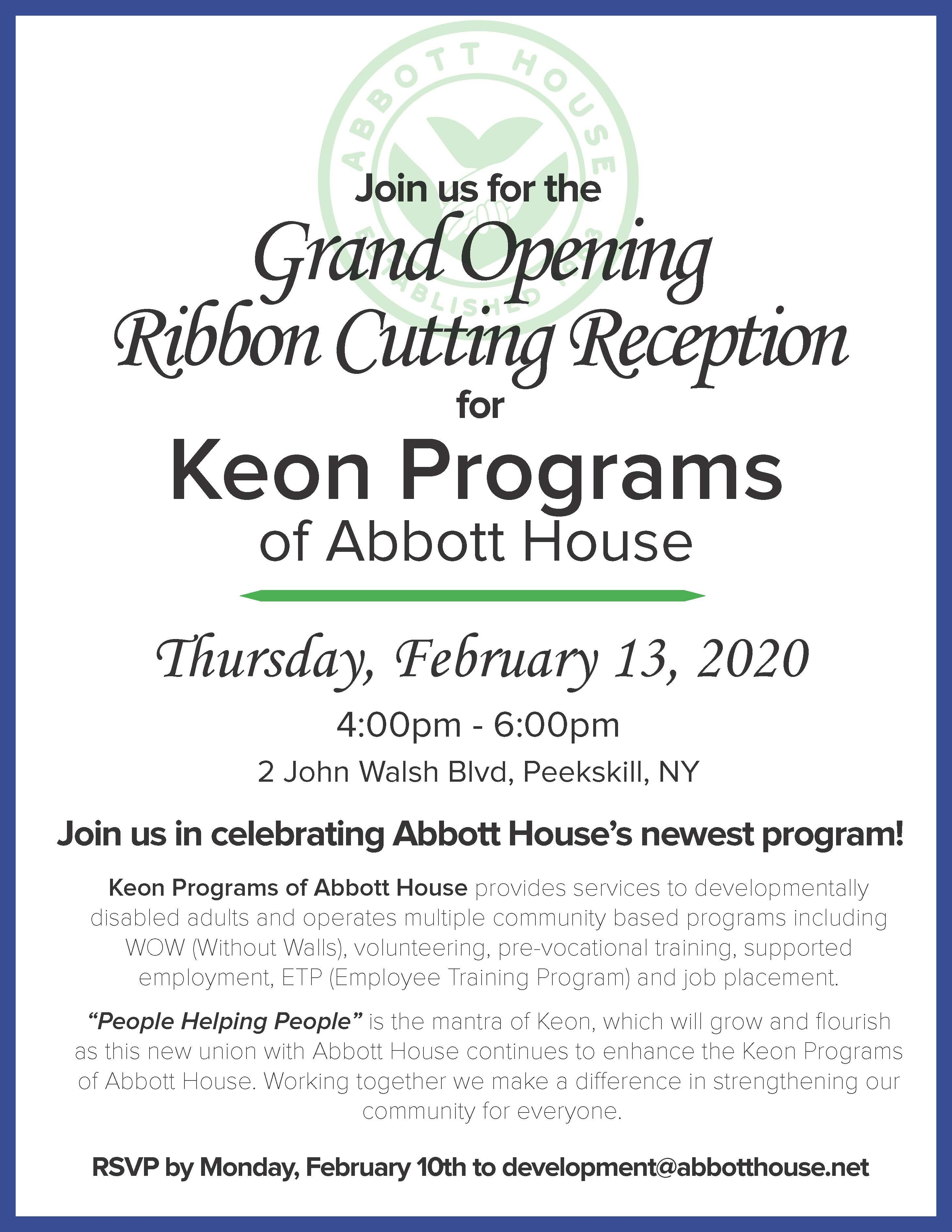 Join Us for the Opening Reception on February 13, 2020