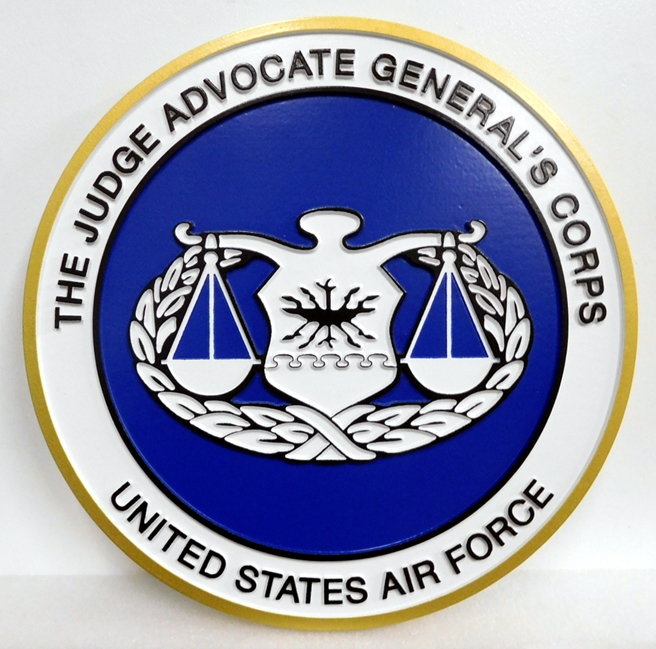 LP-1815 - Carved Plaque of the Seal  of the Judge Advocate General (JAG) of the US Air Force