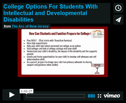 College Options For Students With Intellectual and Developmental Disabilities