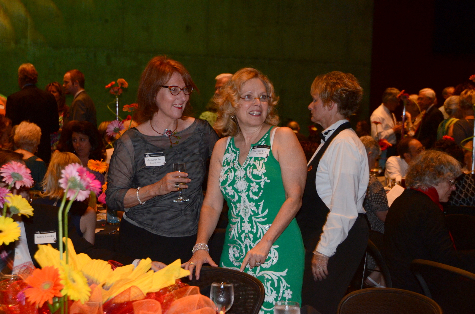 Margaret Berry and Melissa Epp celebrate the arts.