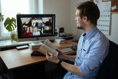 Virtual book club discussion