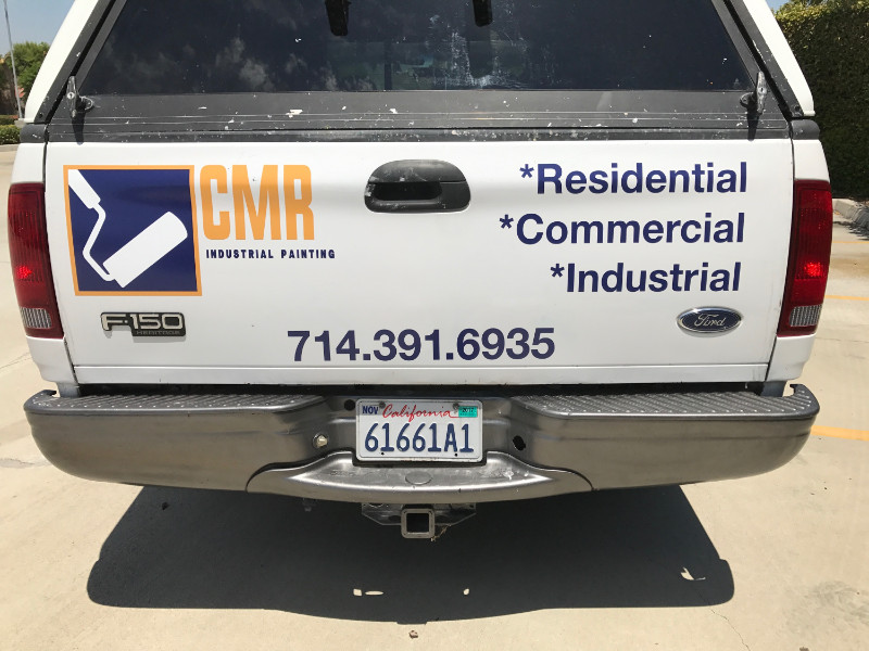 Truck Decals and Vinyl Lettering for Contractors in Orange County