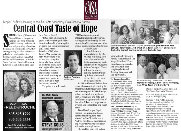 Central Coast Taste of Hope - CASA