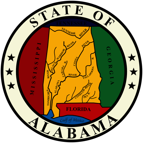 W32010 - Seal of the State of Alabama Wooden Plaque