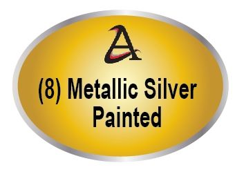 M7450 - (8) Metallic Silver Painted Plaques