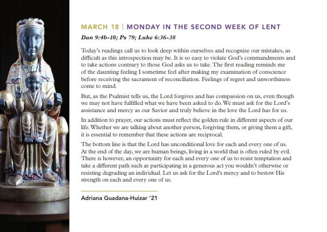Return to Me: Lenten Reflection from College of the Holy Cross