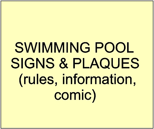 Wood Swimming Pool Signs Tennis Court Signs
