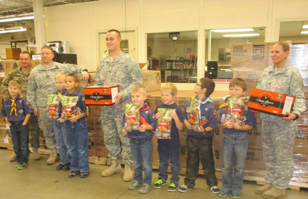Scouts Deliver over $60,000 worth of popcorn to Military
