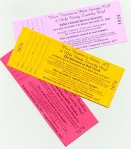 Raffle Tickets/Books