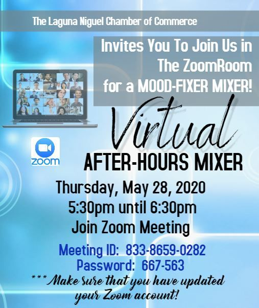 Virtual After-Hours Mixer - Via Zoom