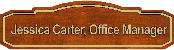 B11055 - Carved Wood Office Manager Plaque