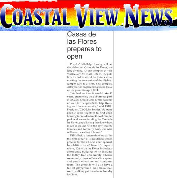 Casas de Las Flores Prepares to Open - Carpinteria Coastal View