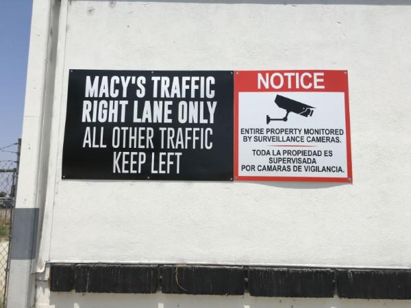 Video Surveillance Signs in Orange County CA
