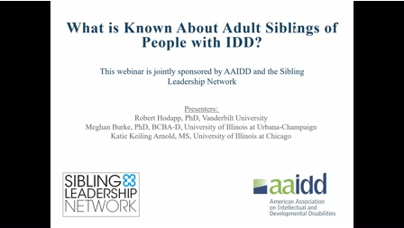 What is Known About Adult Siblings of People with IDD?
