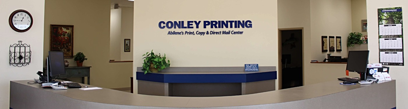 At Conley Printing, we are happy to help you with all your printing needs.