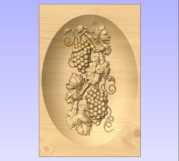M3983 - Carved Maple Grape Cluster