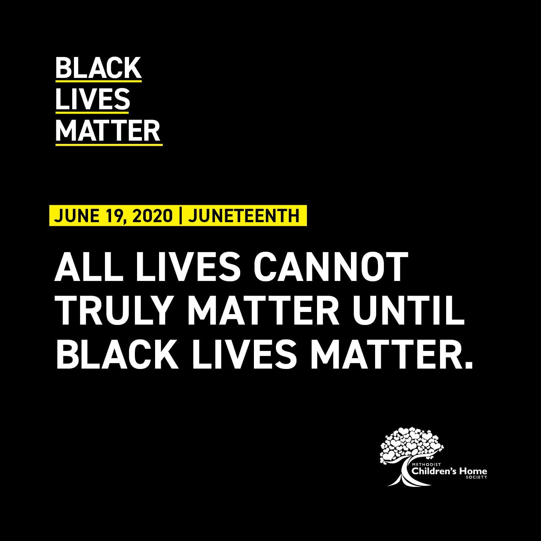 All Lives Cannot truly Matter Until Black lives matter.