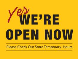 we're now open