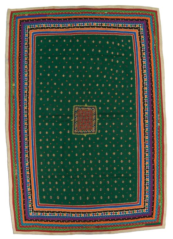 Dharki quilt, Mutwa People, made in Banni, Kutch, Gujarat, India, circa 1975-2000, 82 x 59 in, IQSCM 2005.034.0003