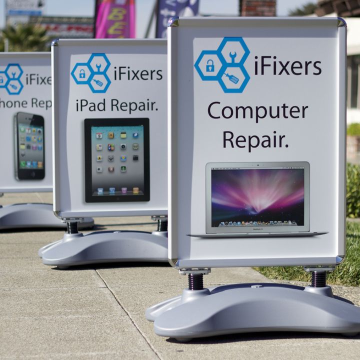iFixers Whirlwind Sidewalk Signs