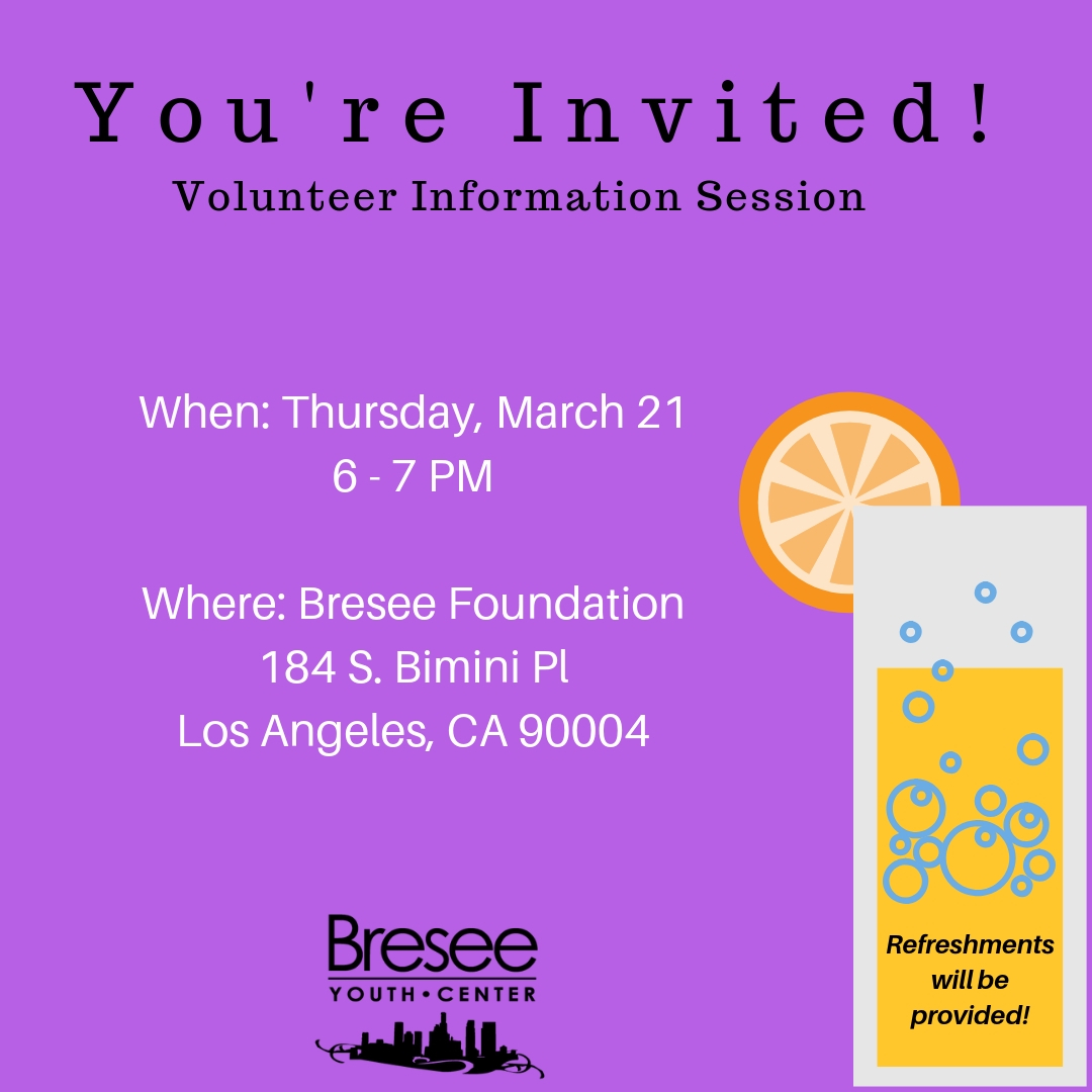 Volunteer Info Session & Mixer