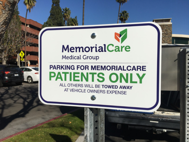 Parking Lot and Wayfinding Signs in Anaheim CA