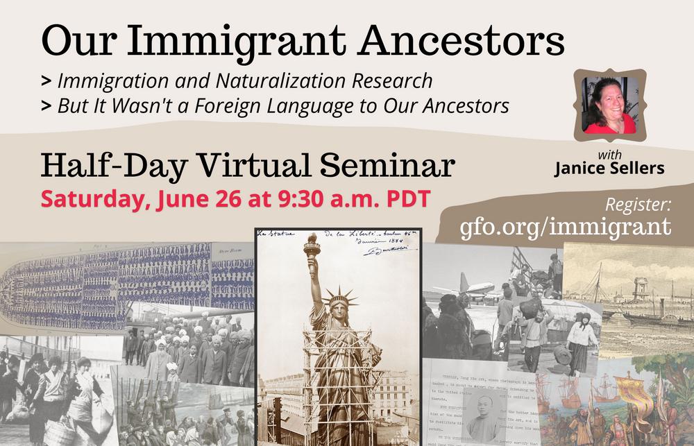 Our Immigrant Ancestors