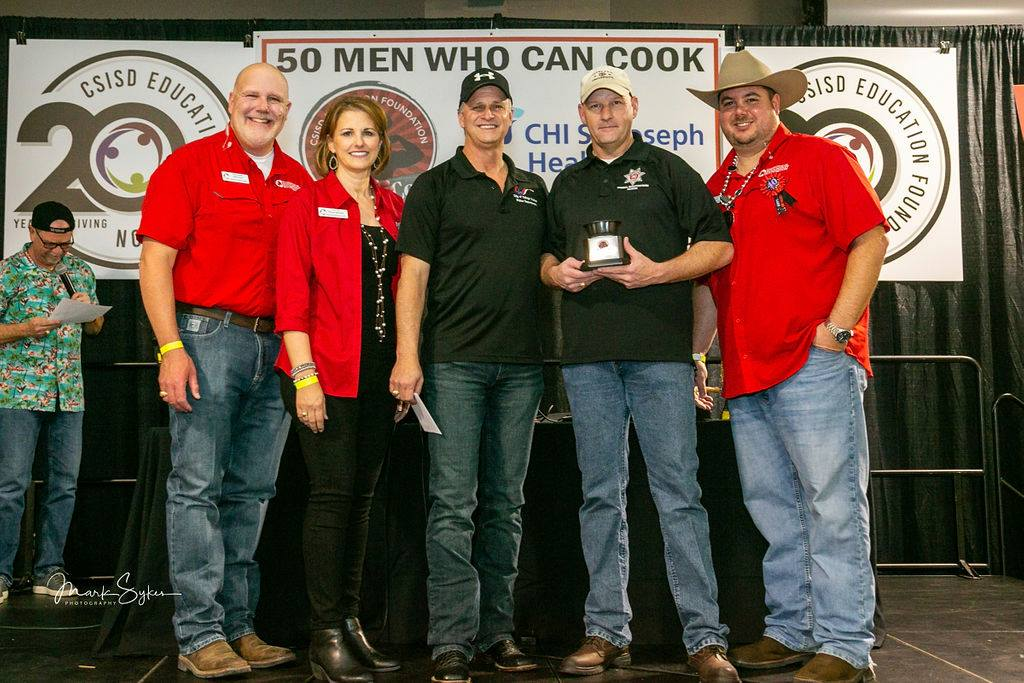 """BEST DESSERT: Scott McCollum & Billy Couch, College Station Police Department, """"Building Smiles - One Bite at a Time"""""""