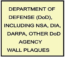 V31101 - Department of Defense (DoD) and DoD Agencies Carved Wood Wall Plaques
