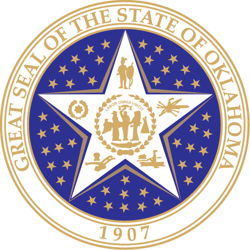 W32410 -  Seal of the State of Oklahoma Wall Plaque