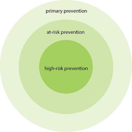 Three-level Community Prevention System graphic
