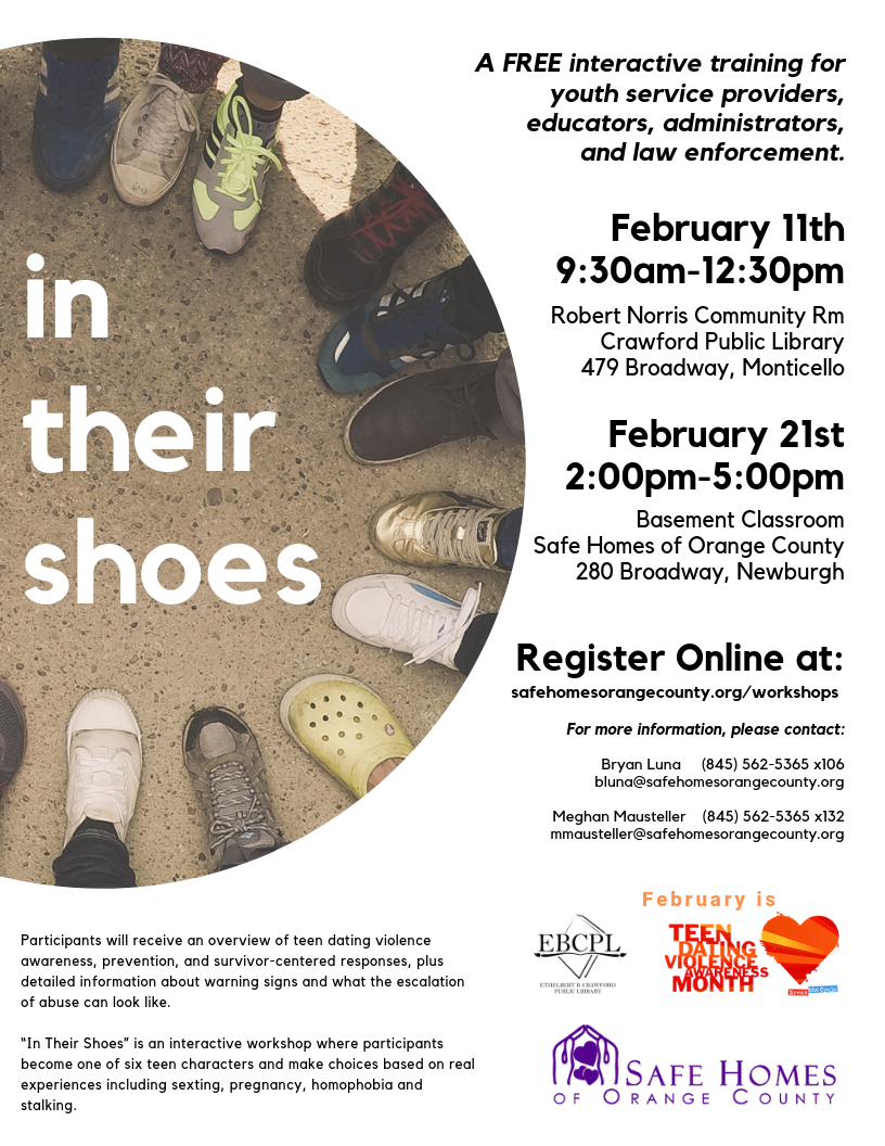 """In Their Shoes"" Workshop - Monticello"