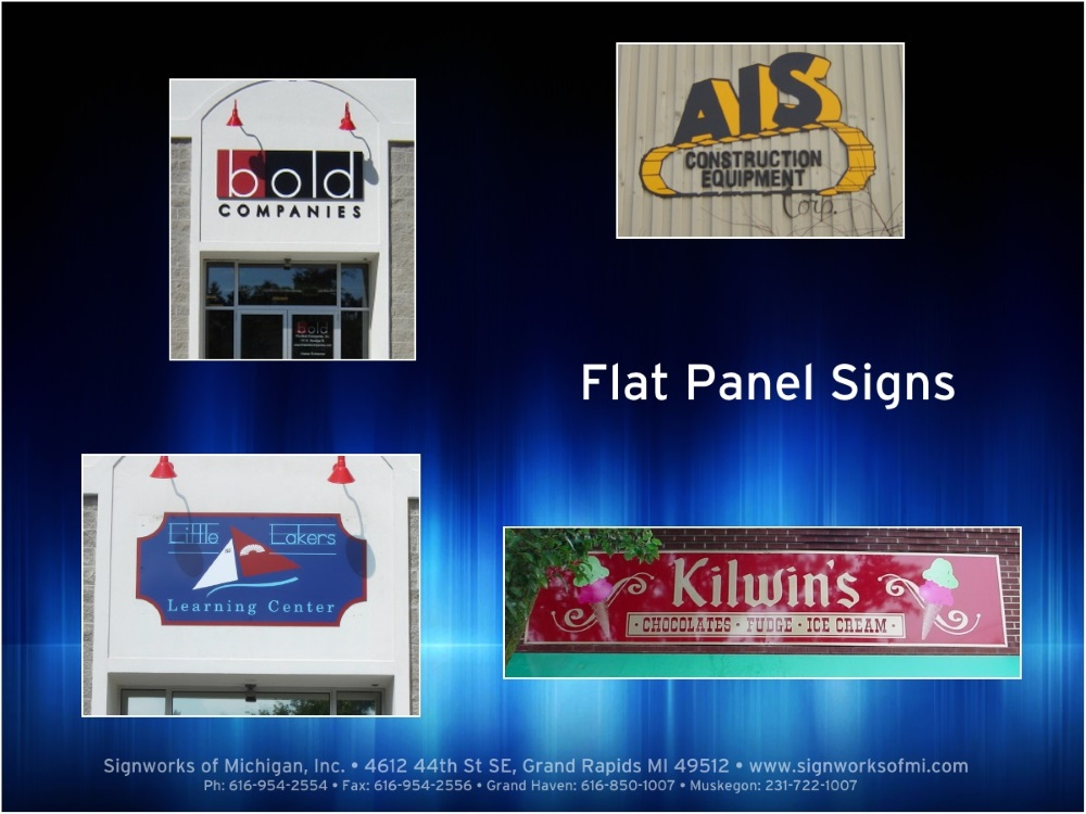 Flat Panel Signs