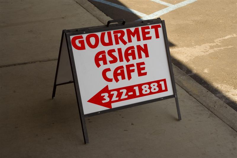 Gourmet Asian Cuisine A-Frame