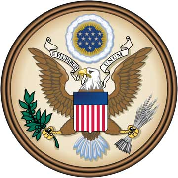 U30020 - Full Color 3D Carved HDU US Great Seal Wall Plaque (Version 2)