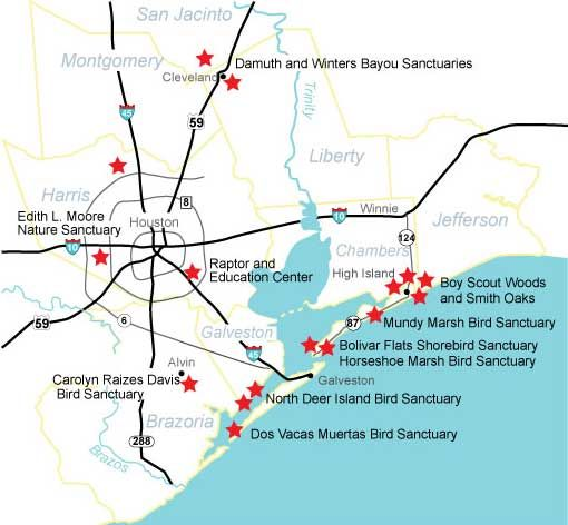 Houston Audubon Sanctuary System