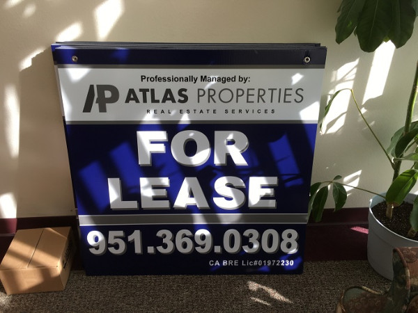 Coroplast Real Estate For Lease Signs Orange County CA