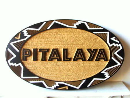 SA28346 - Carved and Sandblasted HDU Sign for Pitalaya  Crafts and Gift Shop