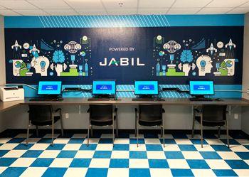 Jabil Computer Room Mural