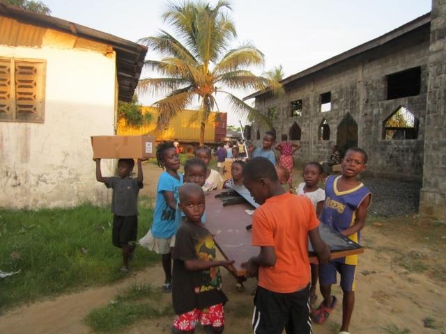 Liberia unloads shipment