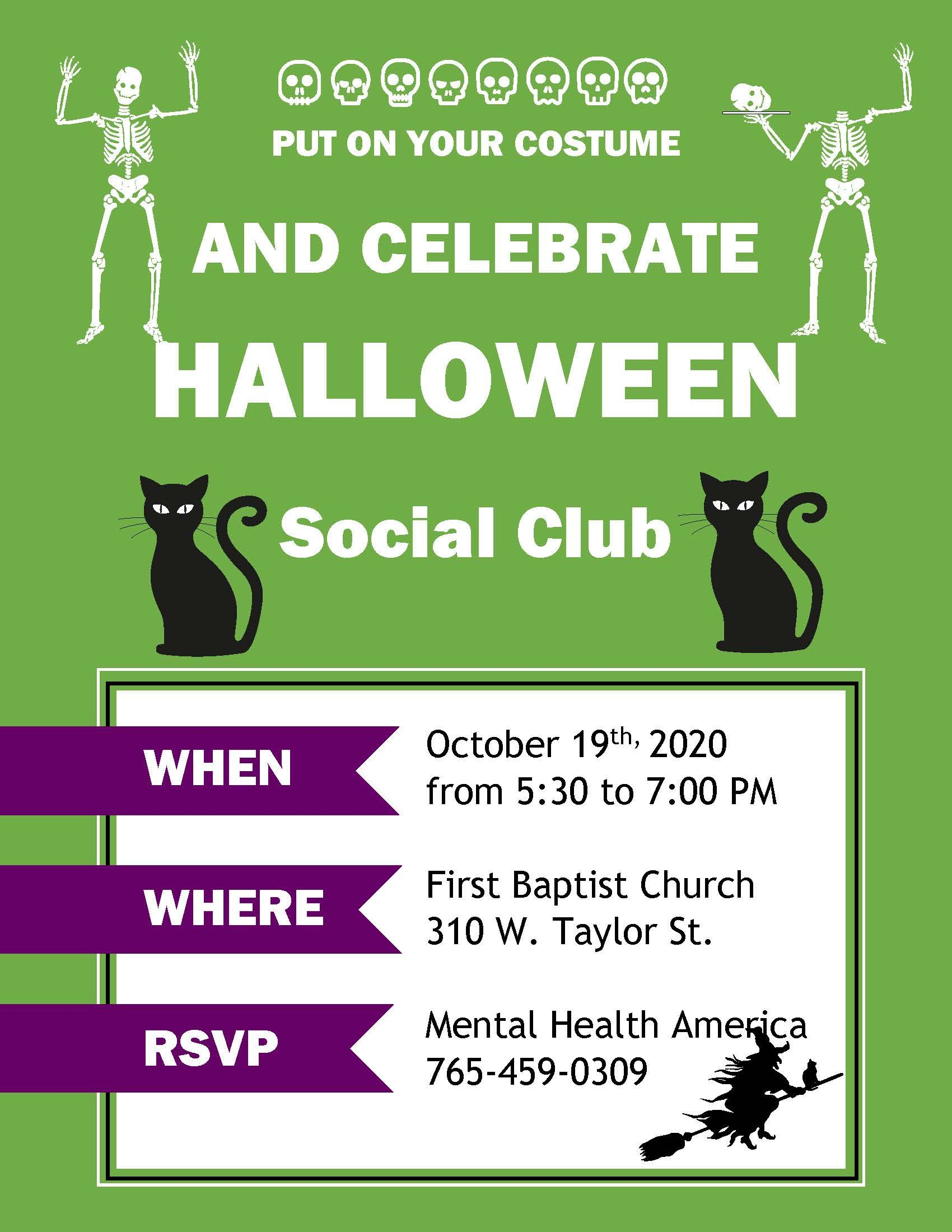 Social Club - Halloween Party