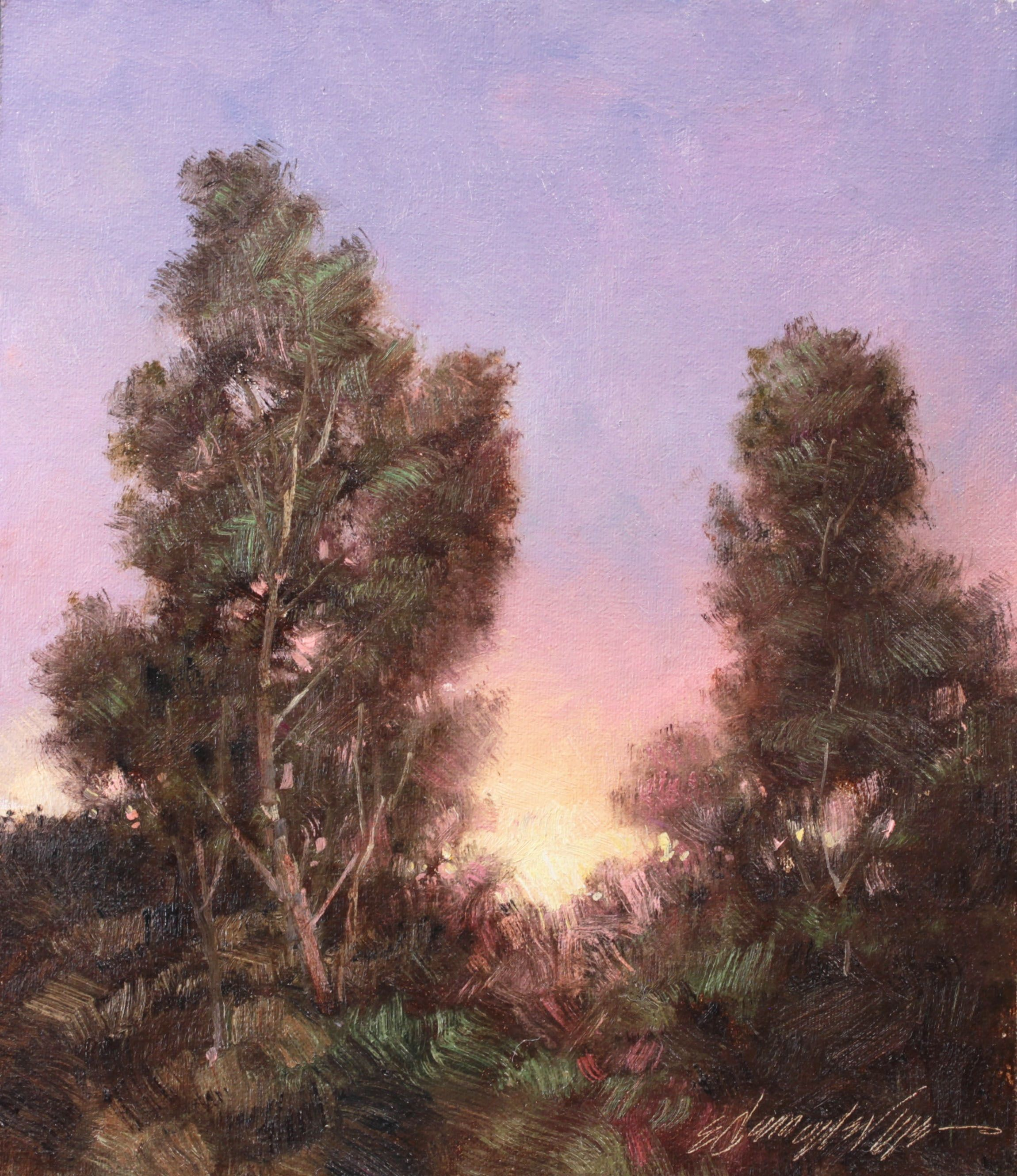 E. Denney NeVille painting in Art in the Beartooths Exhibition & Auction
