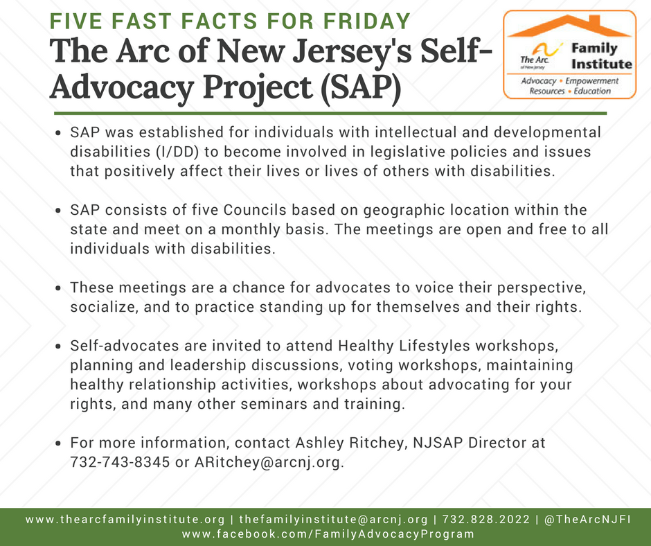 The New Jersey Self Advocacy Project