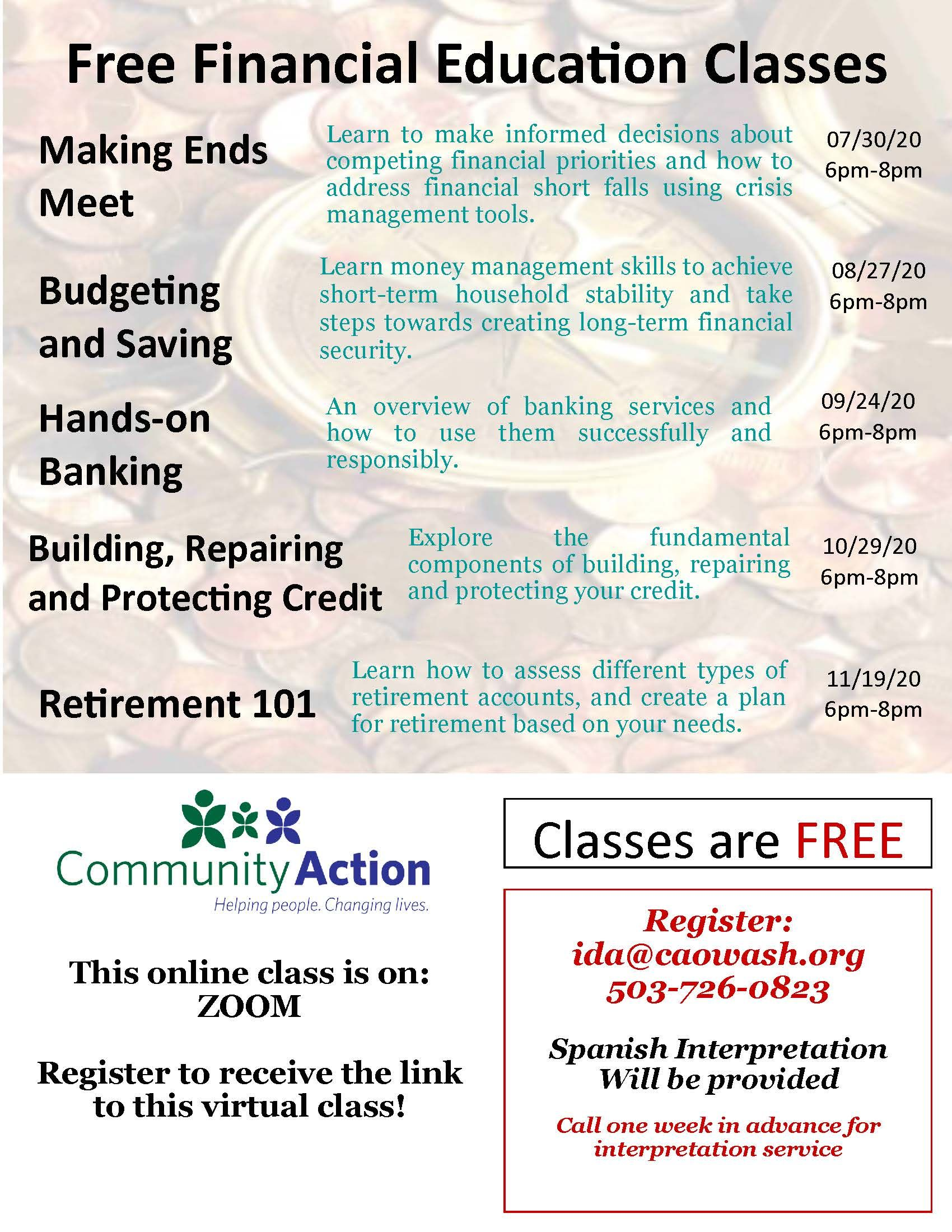 Financial Education Class: Building, Repairing, and Protecting Credit