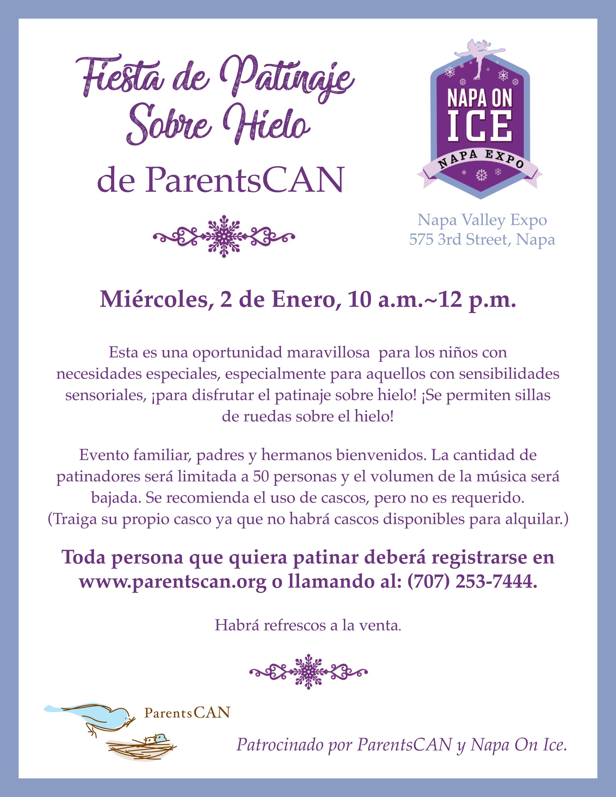 Skating Party Flyer Spanish