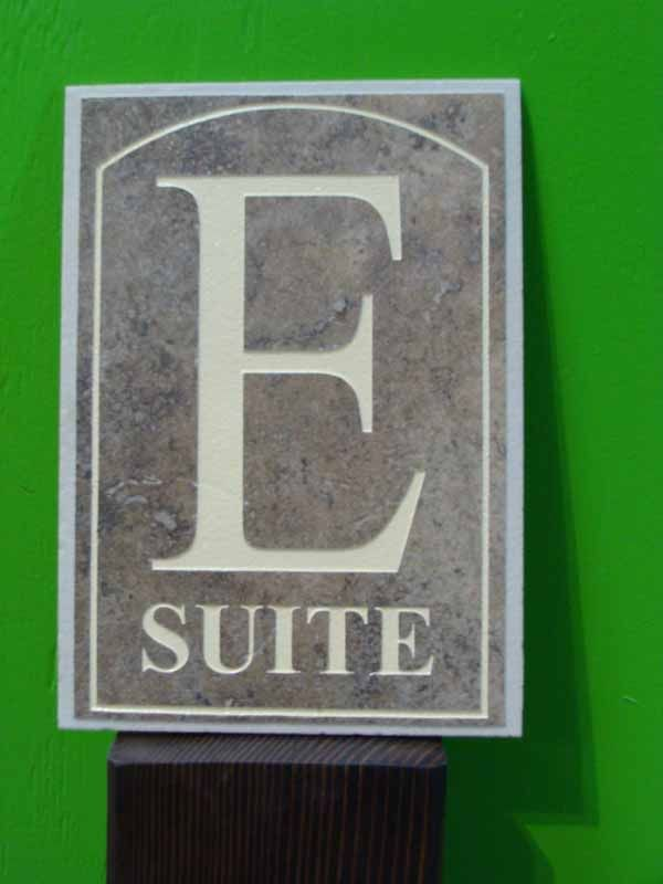T29210 - Elegant  Sandblasted Marble Plaque for Suite