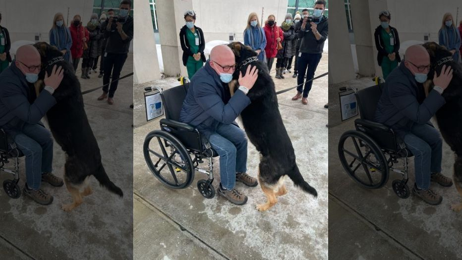Emotional reunion between NJ man and dog who saved his life (FOX 5 New York)