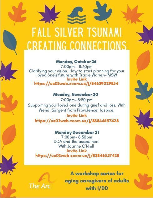 Fall Silver Tsunami Creating Connections: Supporting your loved one during grief and loss