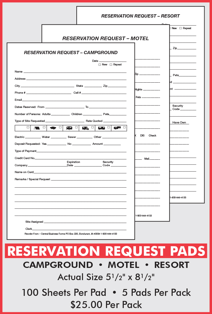 Reservation PADS